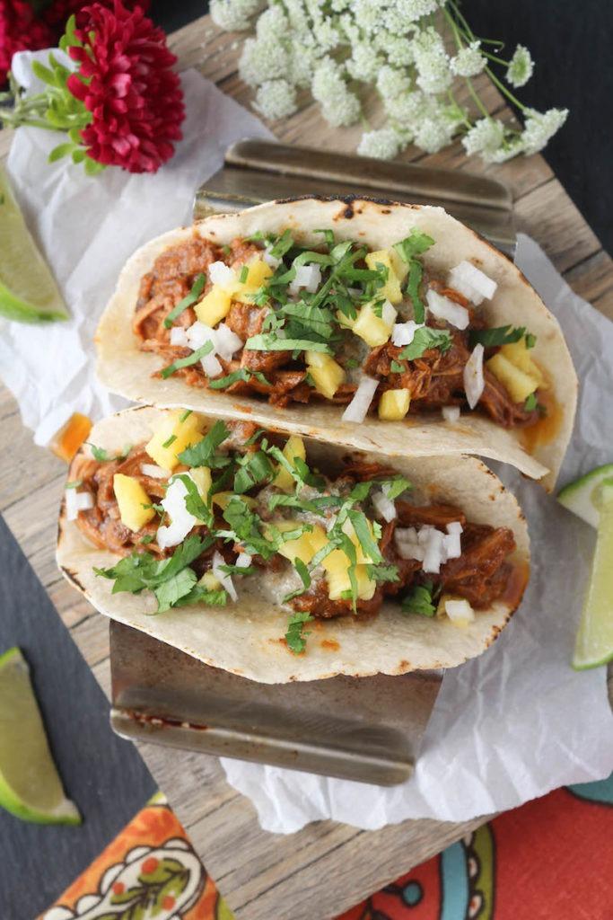 PaleOMG Slow Cooker Al Pastor Loaded Tacos