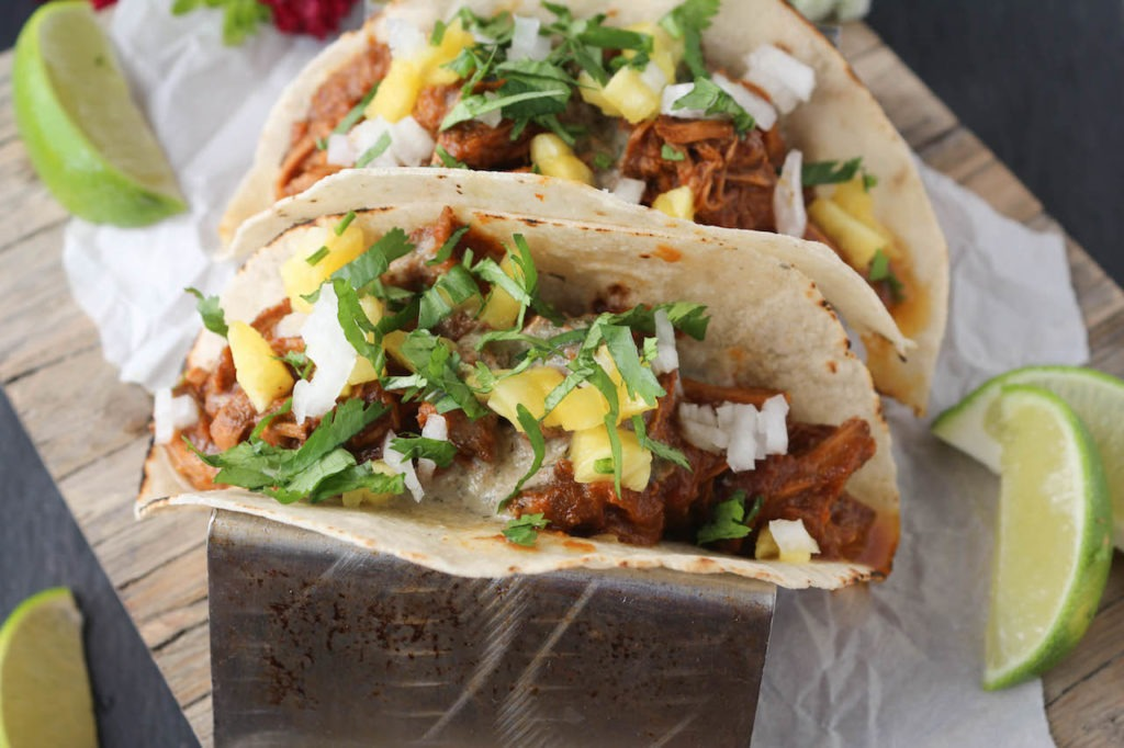 PaleOMG Slow Cooker Al Pastor Loaded Tacos