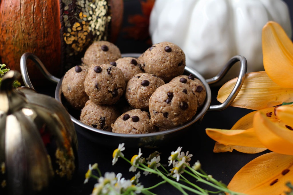 PaleOMG Pumpkin Spice Chocolate Chip Energy Balls