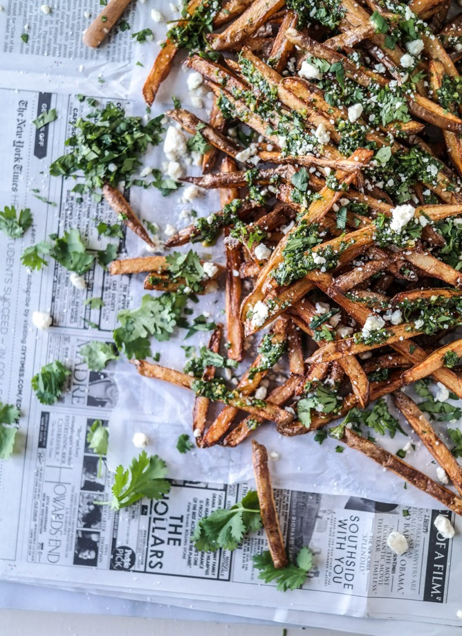 How Sweet It Is Chimichurri Fries with Gorgonzola