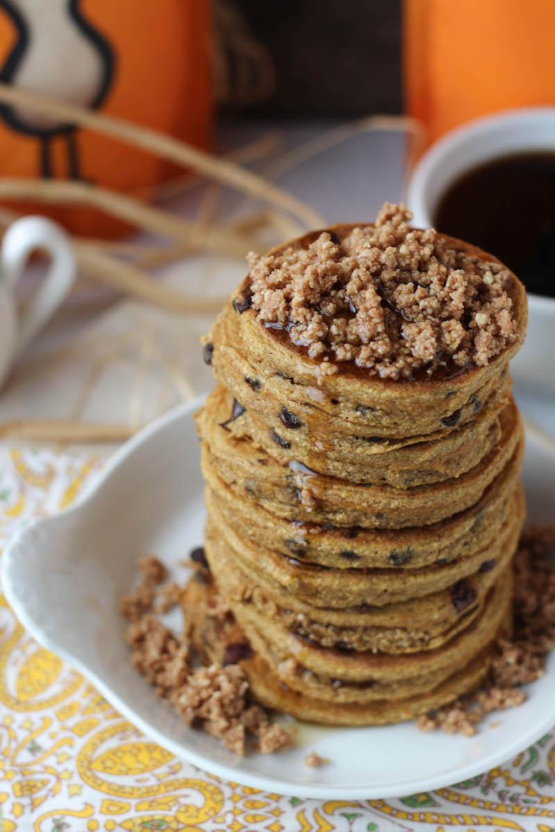 PaleOMG Pumpkin Crumb Pancakes