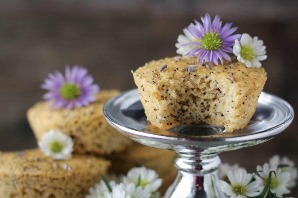 PaleOMG Lavender Lemon Poppyseed Muffins