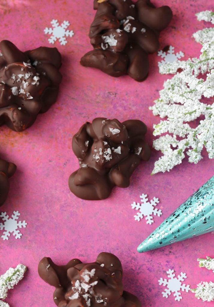 PaleOMG 4 Ingredient Chocolate Mint Cashew Clusters