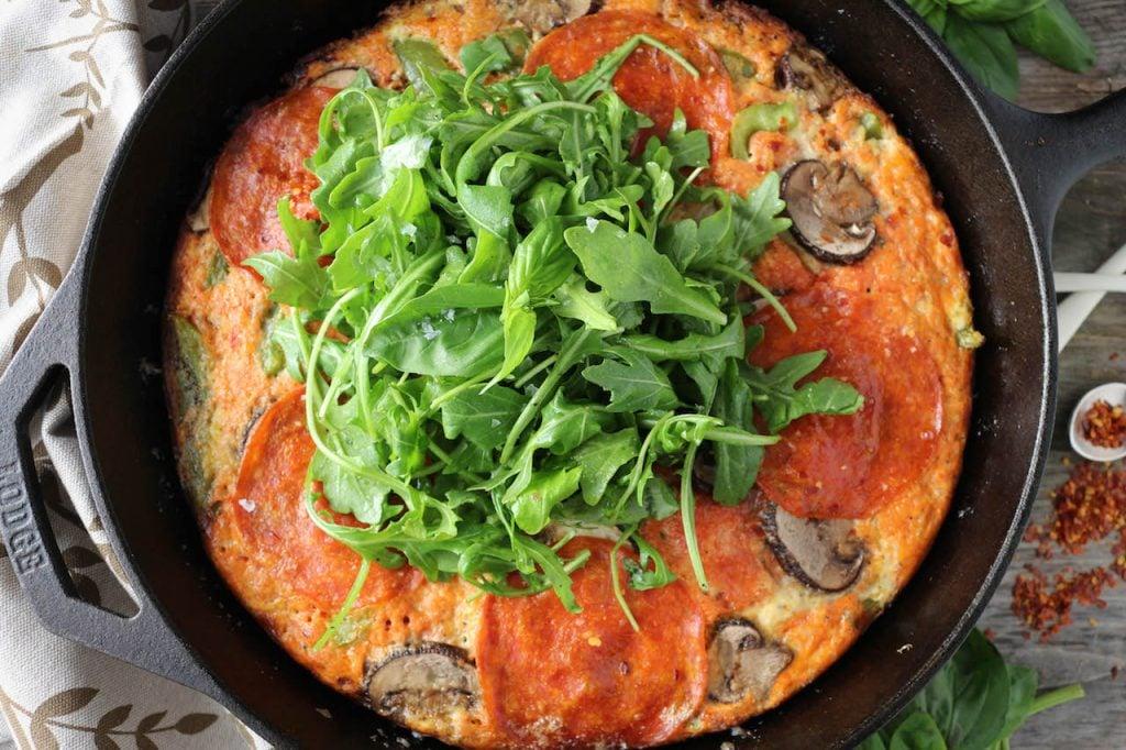 PaleOMG Supreme Pizza Frittata