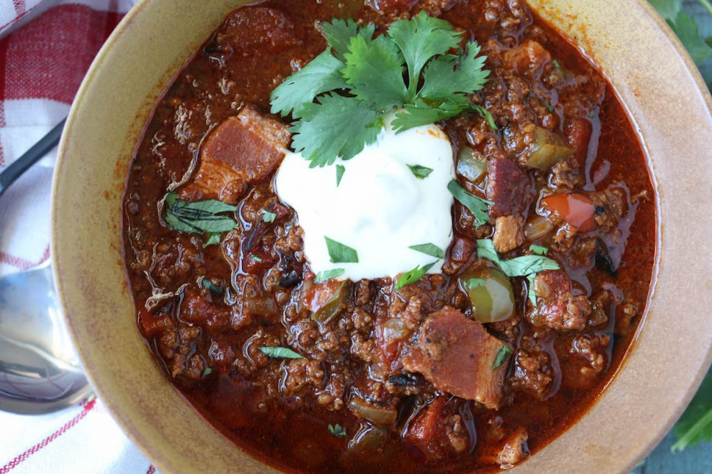 PaleOMG Instant Pot Smoky Bacon Chili
