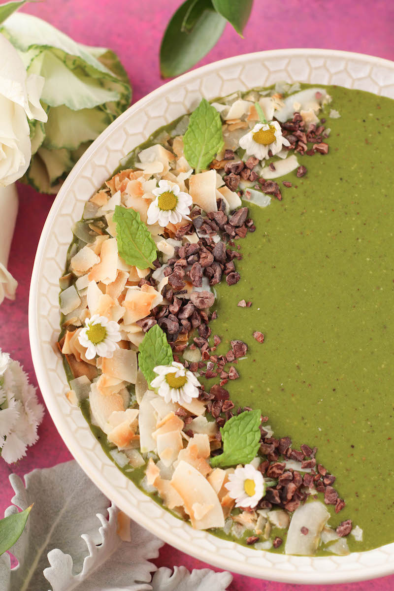 PaleOMG Matcha Coconut Mint Chip Smoothie Bowl (video!)