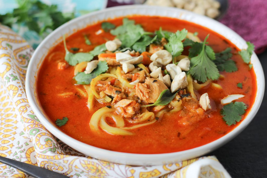 PaleOMG Instant Pot Thai Red Curry Noodle Bowls