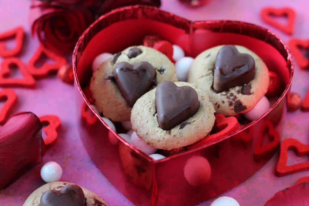 PaleOMG Valentine's Day Chocolate Chip Chocolate Heart Cookies