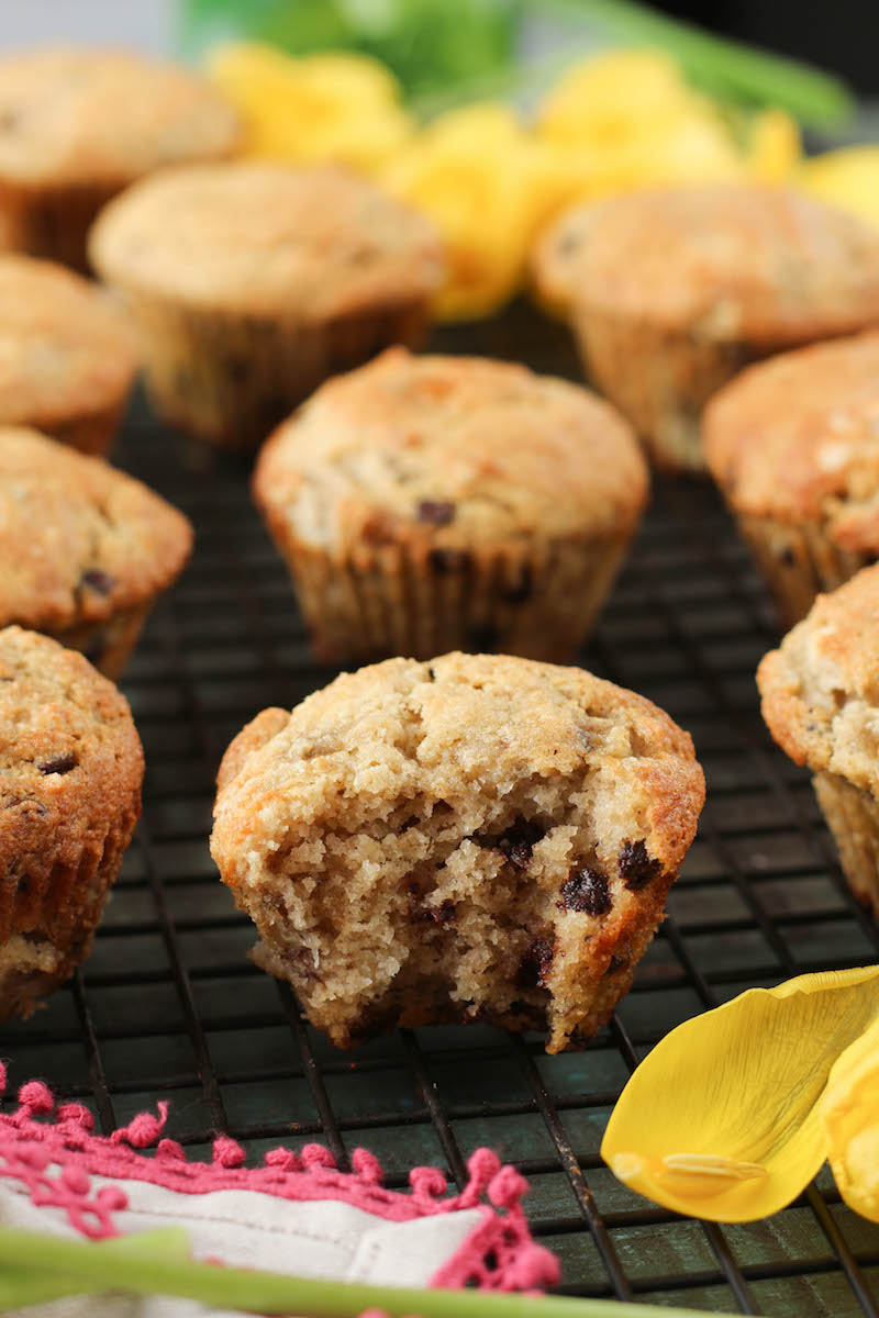 PaleOMG Super Easy Chocolate Chip Banana Walnut Muffins (video!)