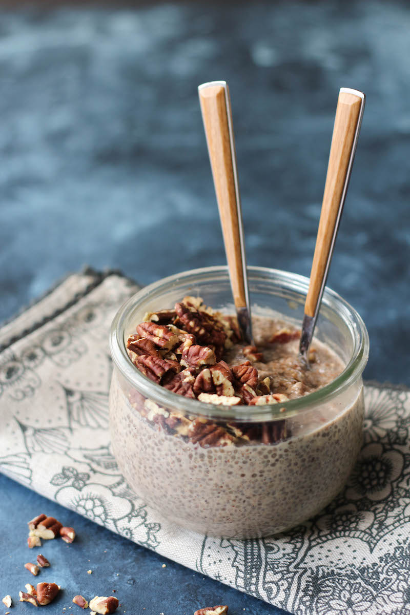 PaleOMG Toasted Maple Pecan Overnight Chia Pudding