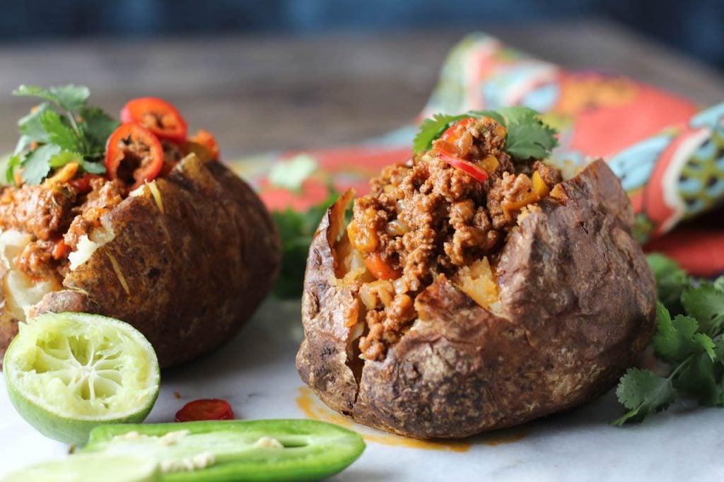 PaleOMG Instant Pot Taco Stuffed Potatoes
