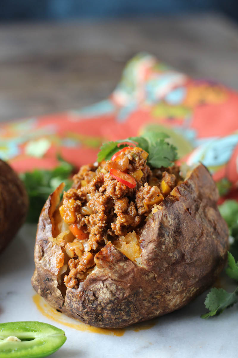 PaleOMG Instant Pot Taco Stuffed Potatoes