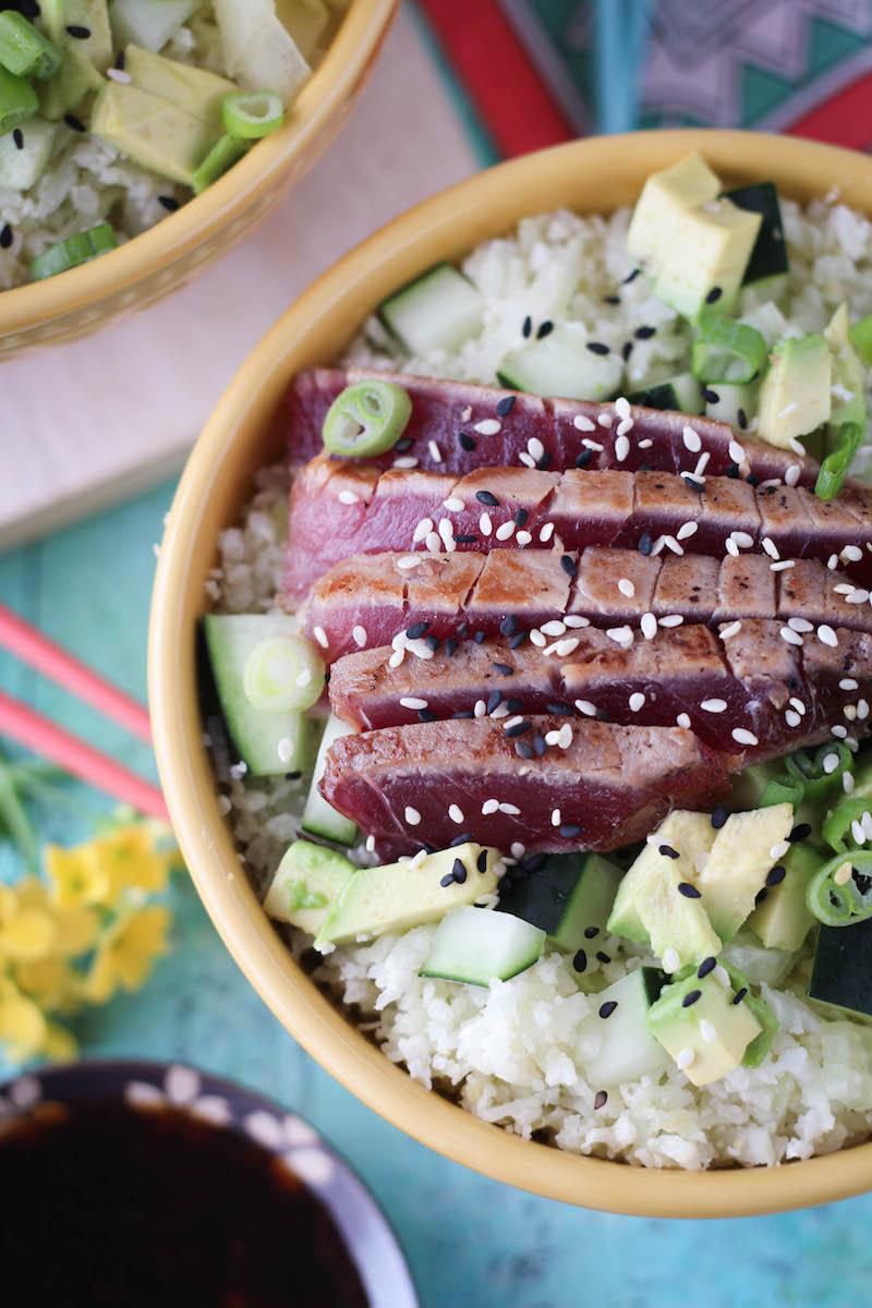 PaleOMG Seared Ahi Tuna Sushi Bowls
