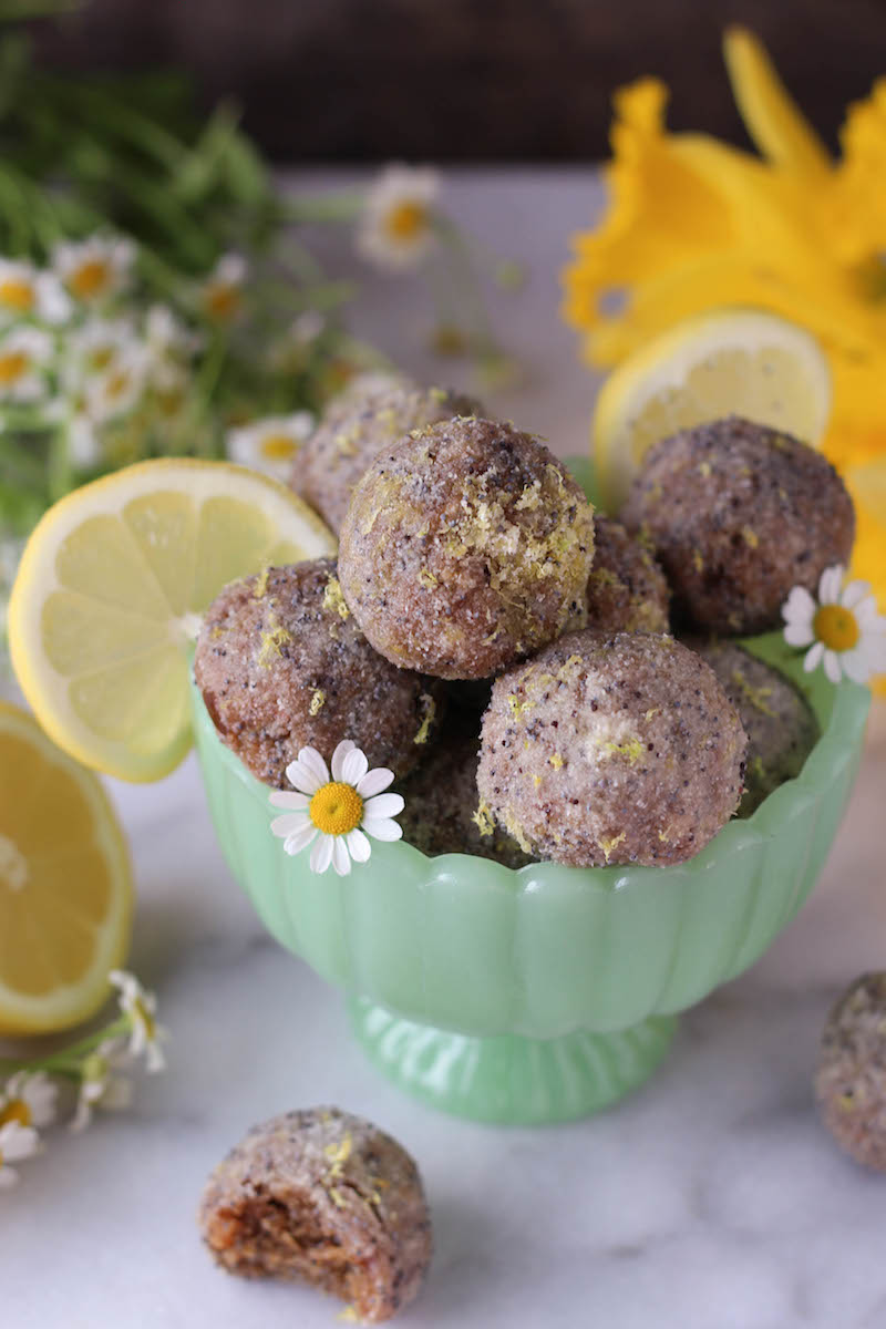 PaleOMG Lemon Poppyseed Energy Balls
