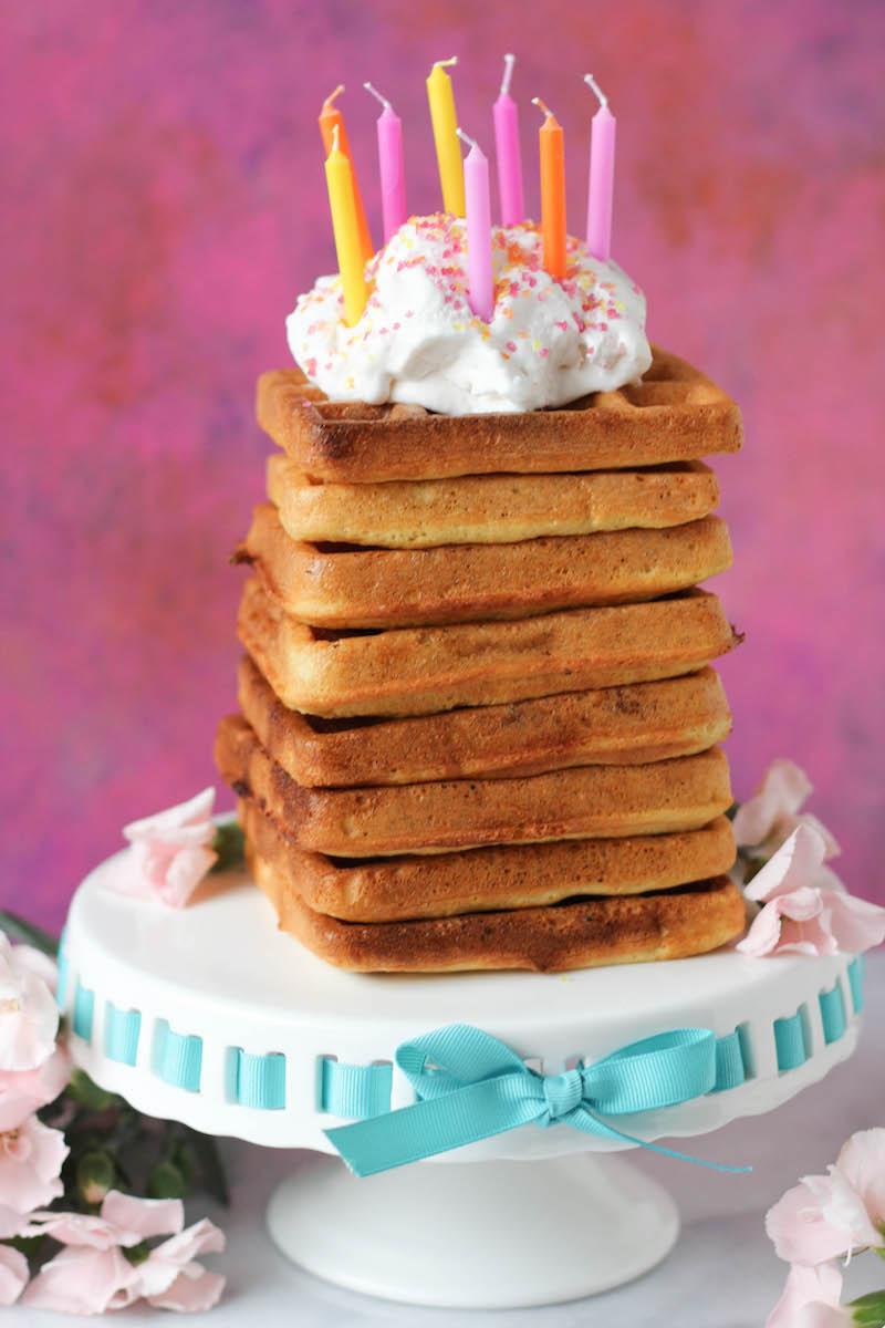 PaleOMG Birthday Cake Waffles