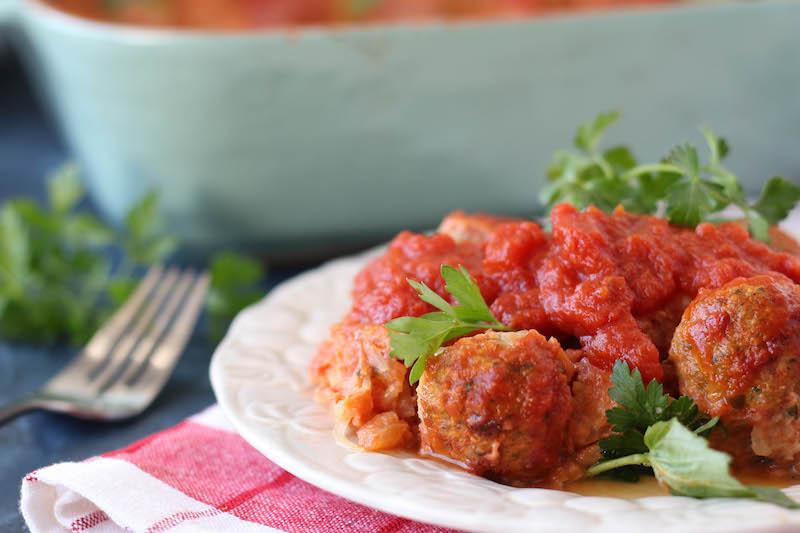 PaleOMG Meatball Casserole