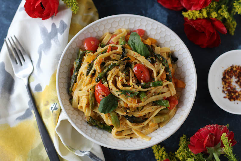PaleOMG Spring Vegetable Basil Pasta