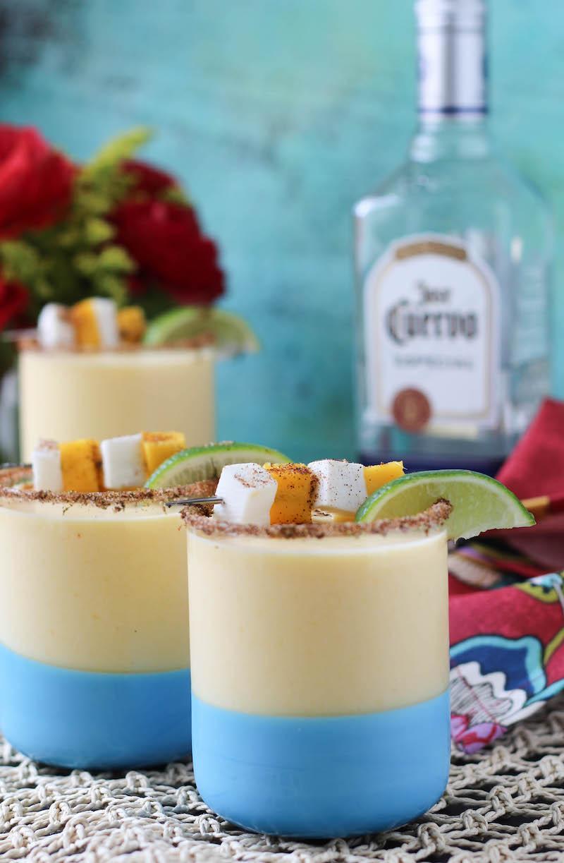 PaleOMG Coconut Cream Chili Mango Frozen Margaritas