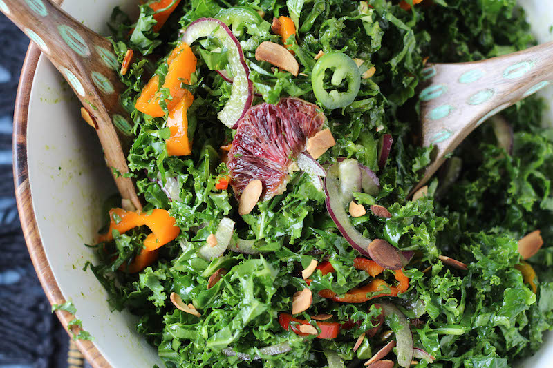 PaleOMG Spicy Kale & Blood Orange Salad