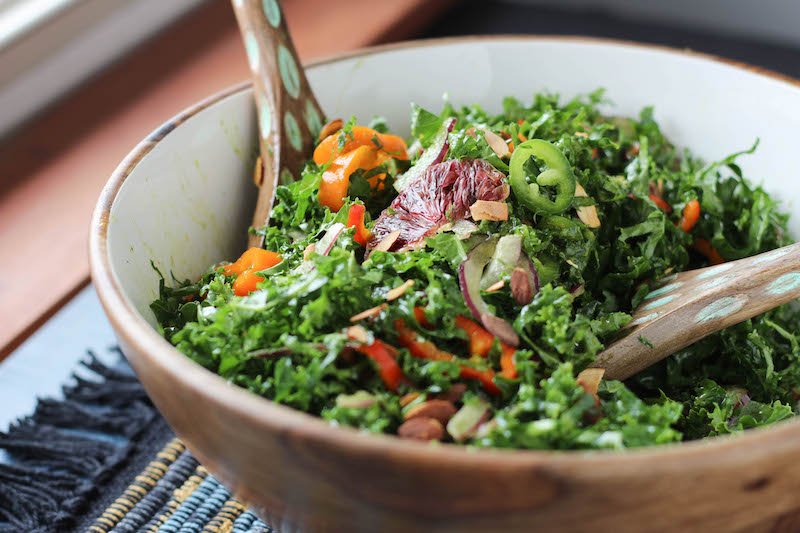 PaleOMG Spicy Kale Blood Orange Salad