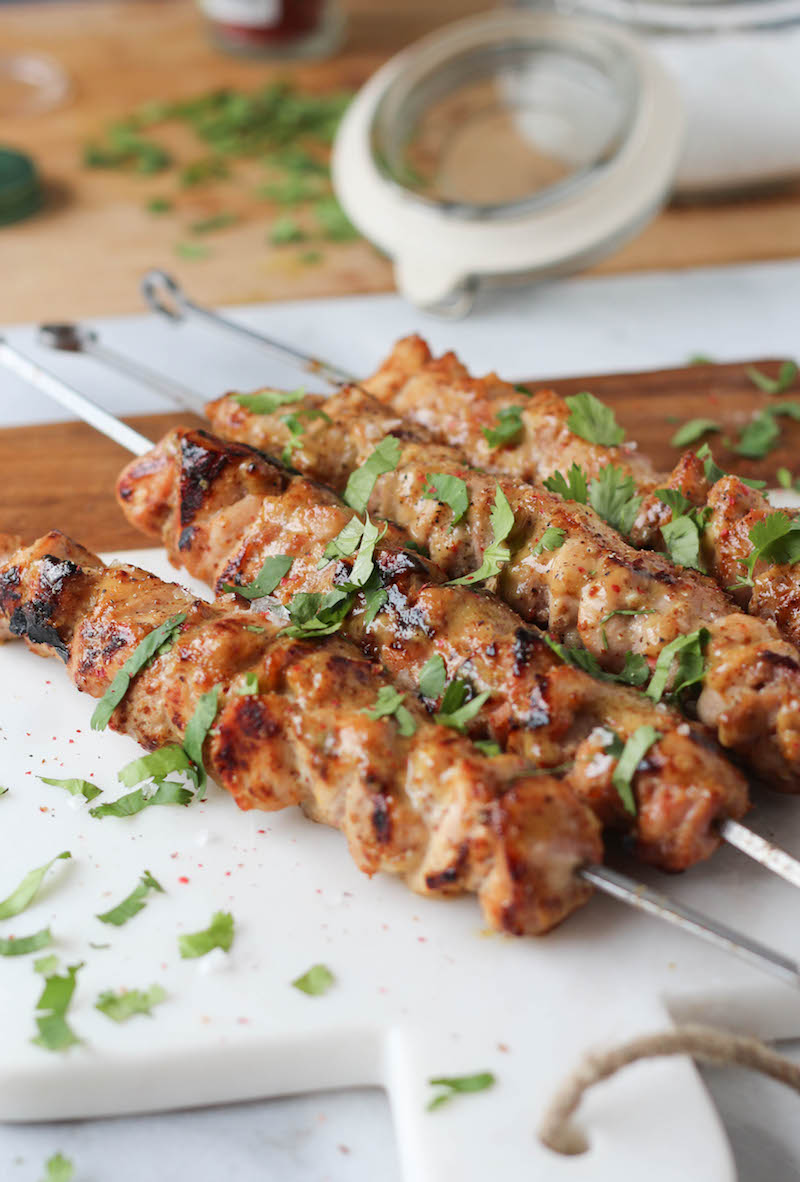 PaleOMG Honey Mustard Chicken Skewers