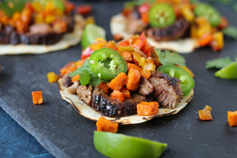 PaleOMG Coffee Rubbed Steak Tacos