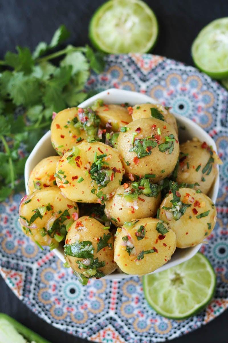 PaleOMG Jalapeño Cilantro Lime Potato Salad