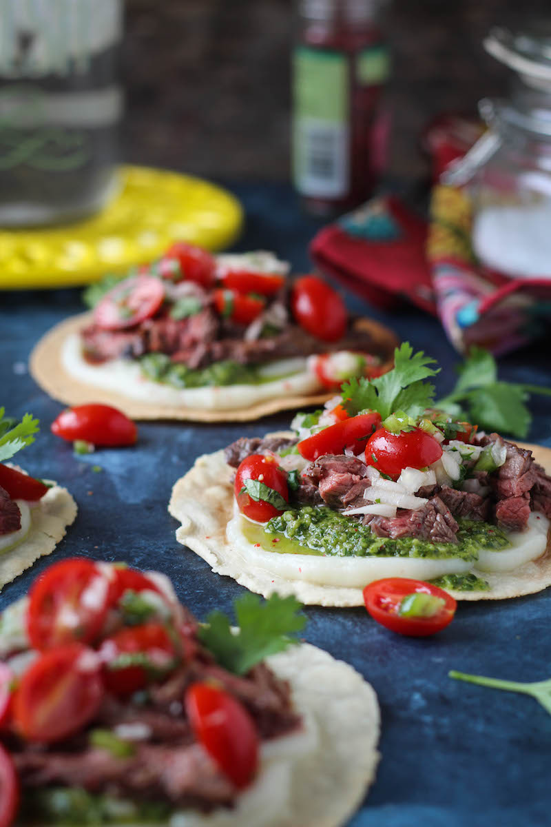PaleOMG Chimichurri Steak Tostadas