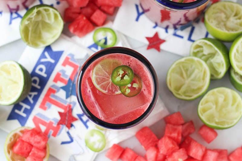 PaleOMG Watermelon Jalapeño Margaritas