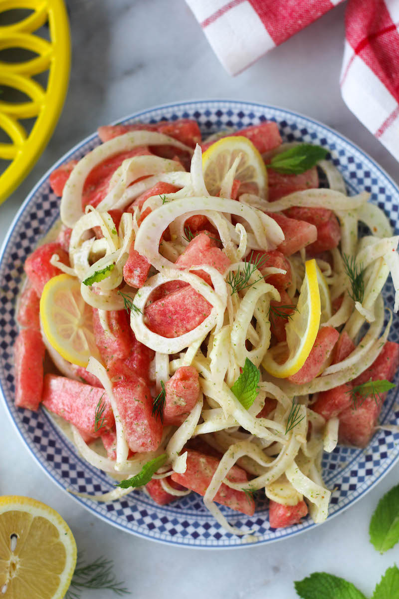PaleOMG Watermelon & Fennel Mint Salad