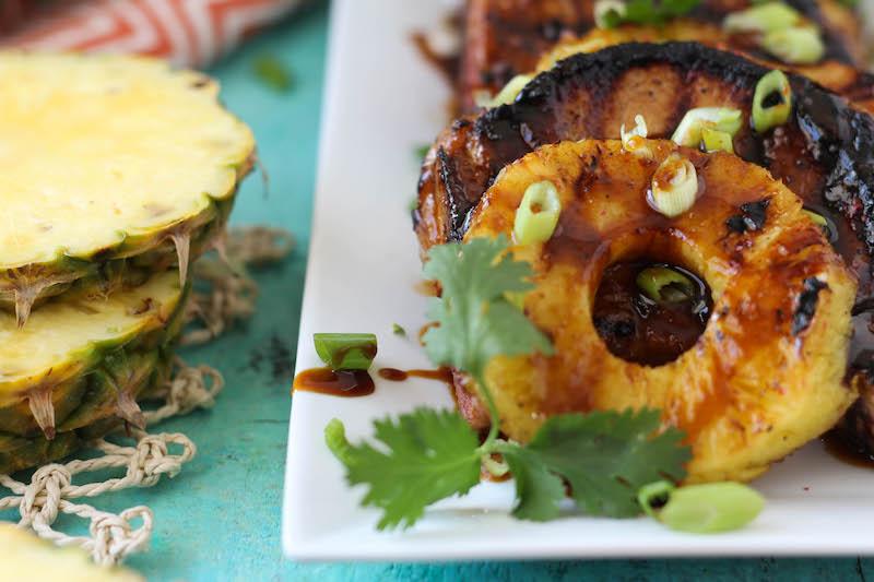 PaleOMG Grilled Sweet & Spicy Pineapple Pork Chops