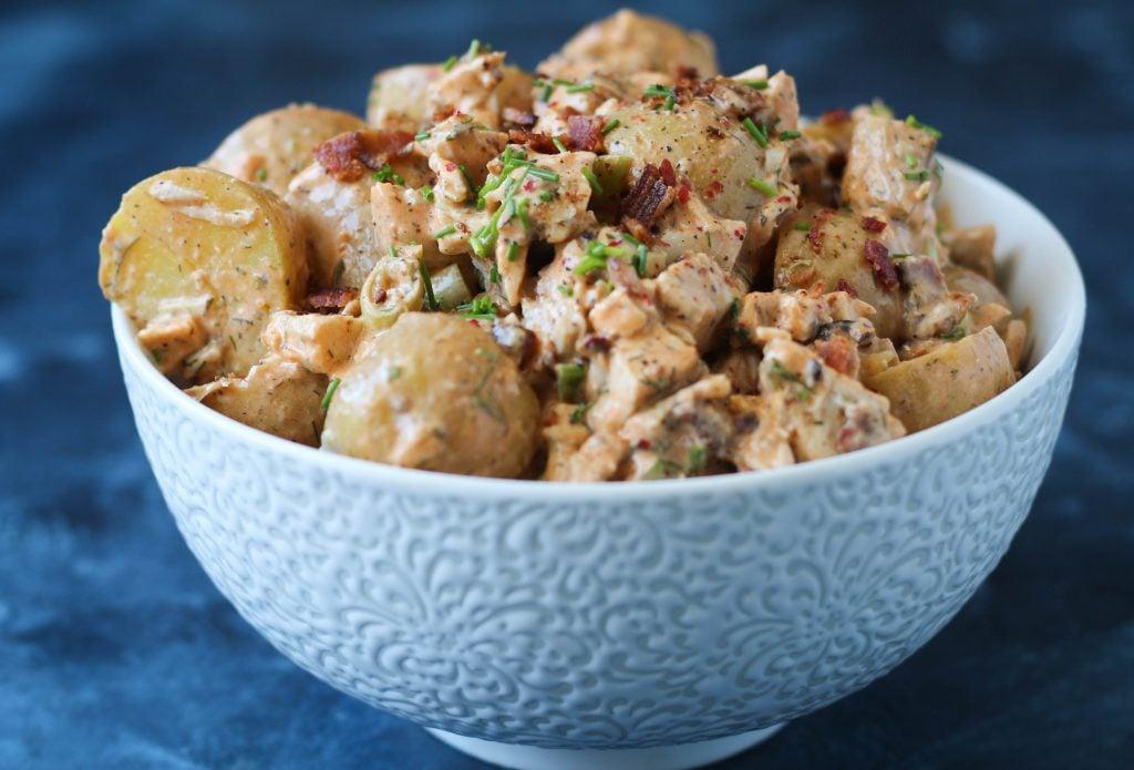 PaleOMG Buffalo Chicken Bacon Ranch Potato Salad