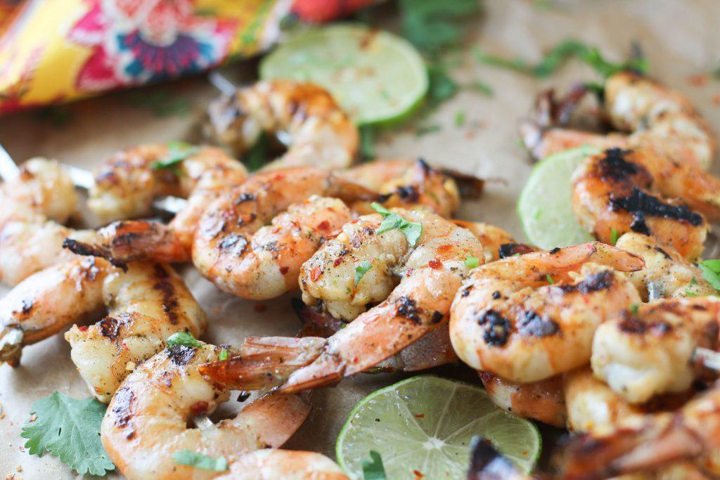 PaleOMG Garlic Lime Shrimp Skewers