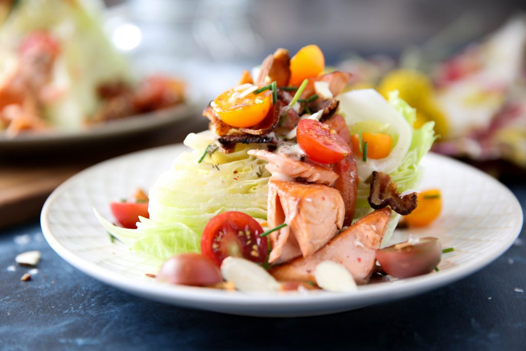 PaleOMG Loaded Broiled Salmon Wedge Salad