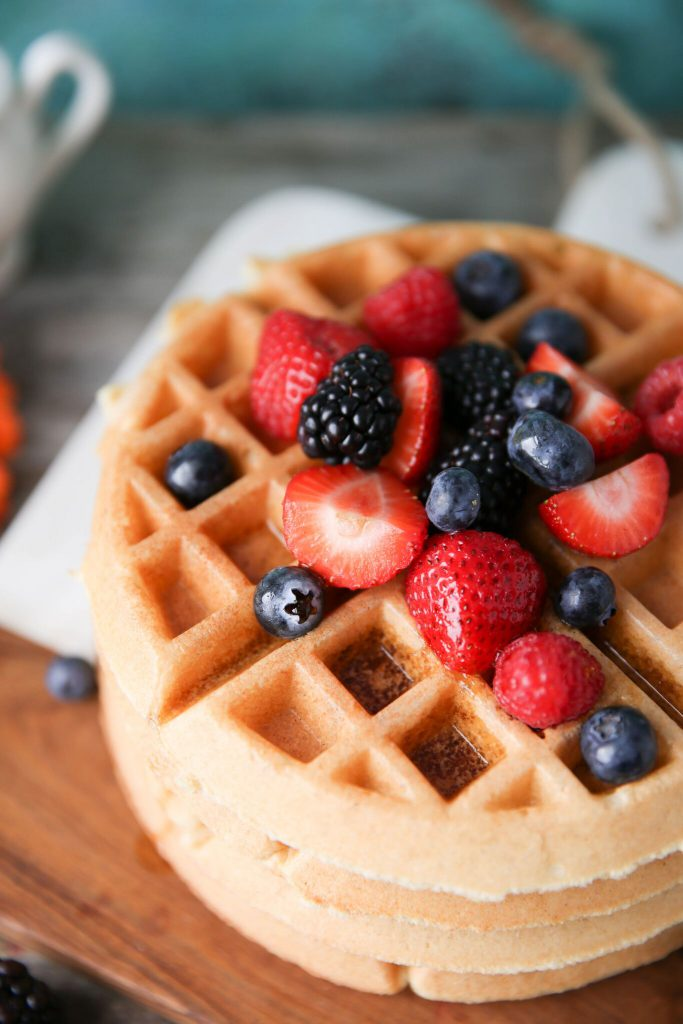 PaleOMG Greek Yogurt Fluffy Waffles