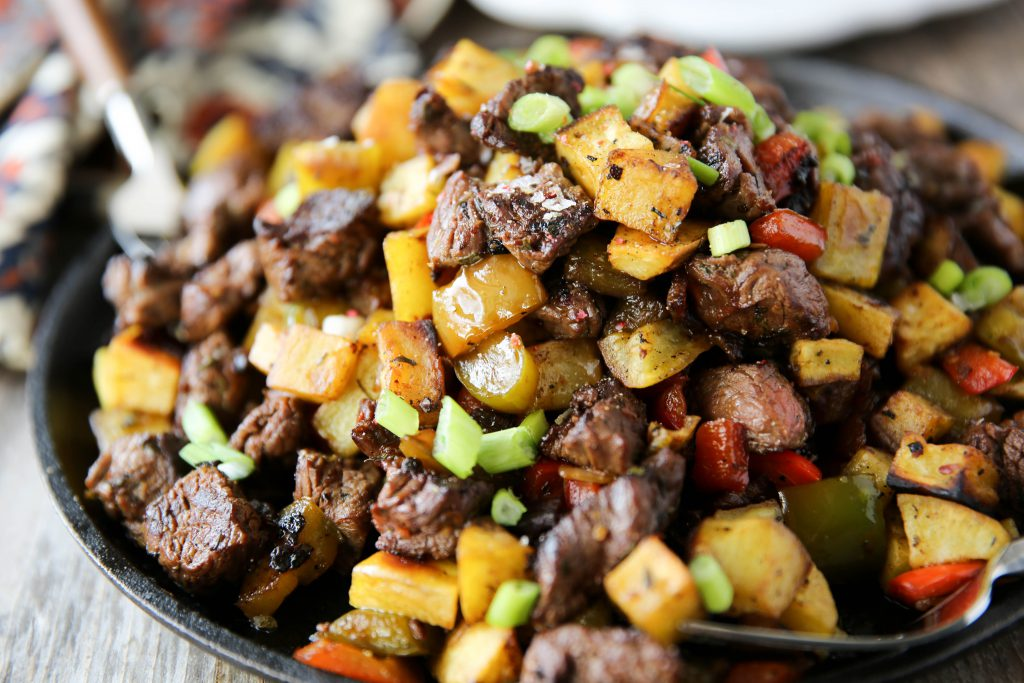 PaleOMG Steak Tips Hash