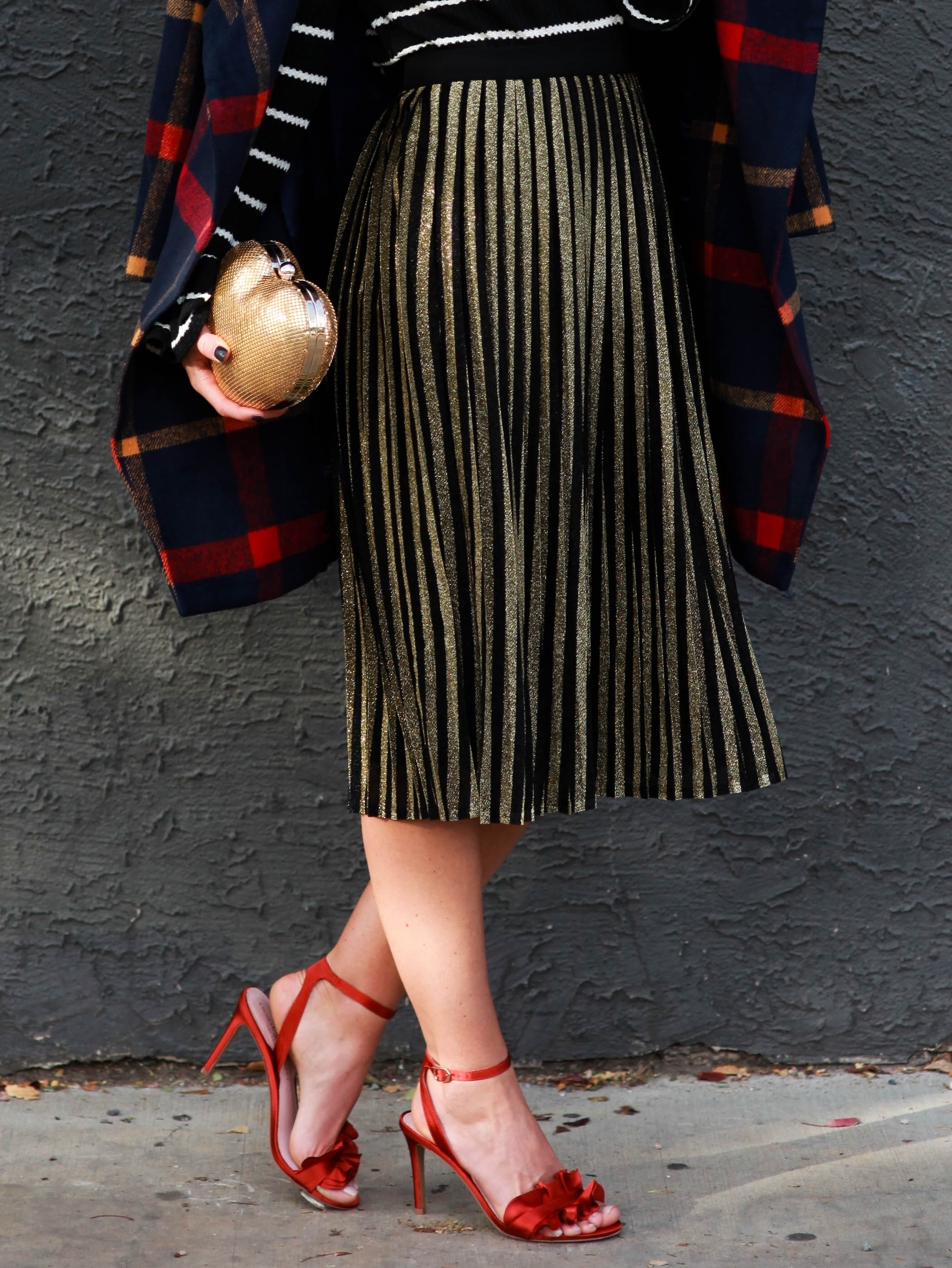 PaleOMG Fashion: Stripes on Stripes Holiday Look