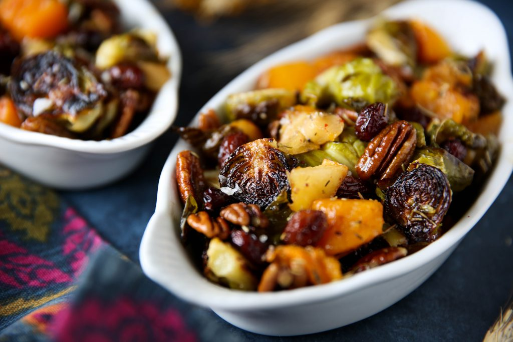PaleOMG Maple Roasted Brussels Sprouts