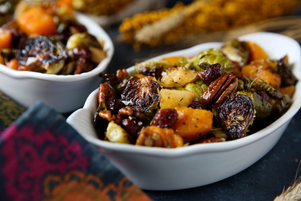 PaleOMG Thanksgiving Maple Roasted Brussels Sprouts & Butternut Squash