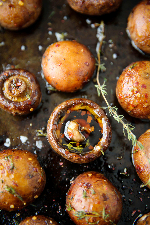 PaleOMG Oven Roasted Mushrooms