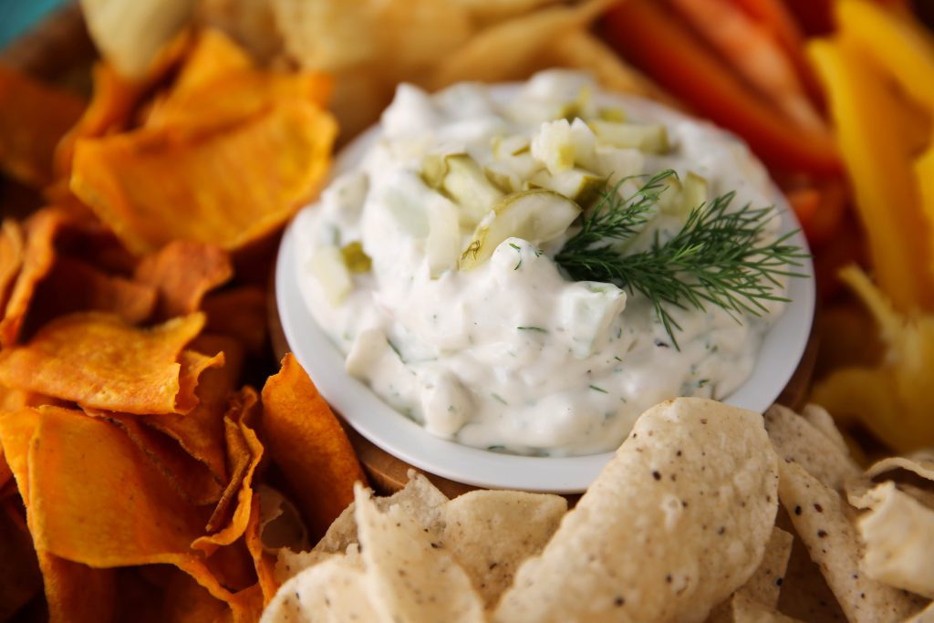 PaleOMG Super Bowl Dill Pickle Dip