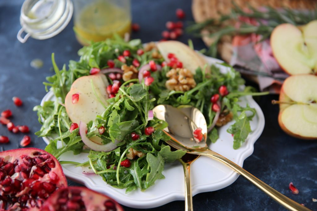 PaleOMG Apple Arugula Walnut Salad