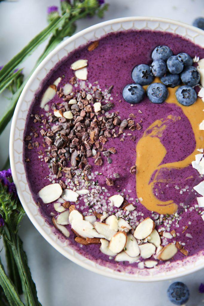 PaleOMG Blueberry Protein Smoothie Bowl