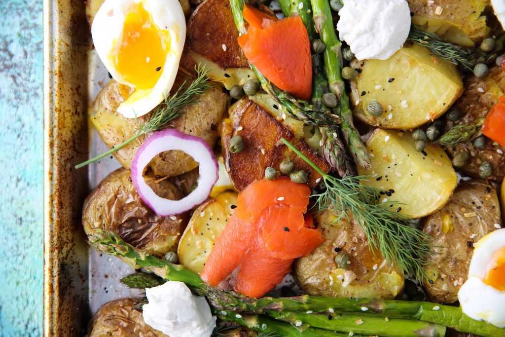 PaleOMG Lox & Cream Cheese Sheet Pan Breakfast