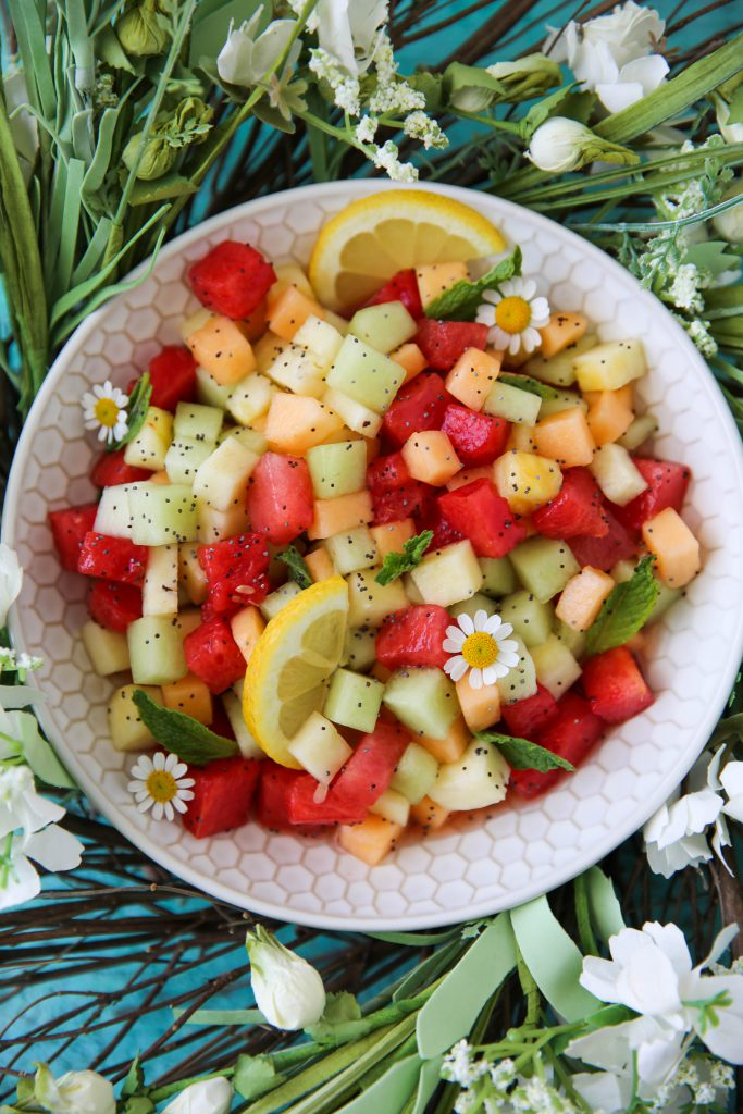 PaleOMG Lemon Poppyseed Fruit Salad