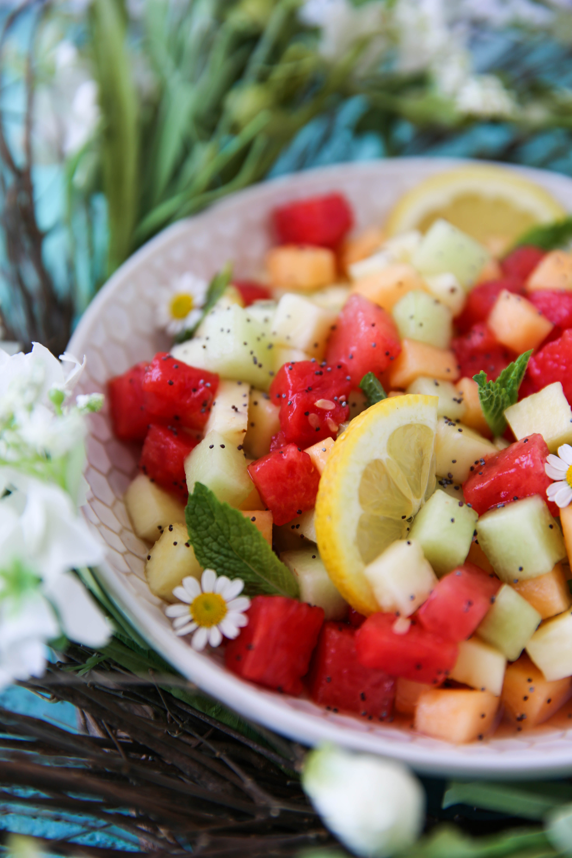 PaleOMG Lemon Poppyseed Fruit Salad