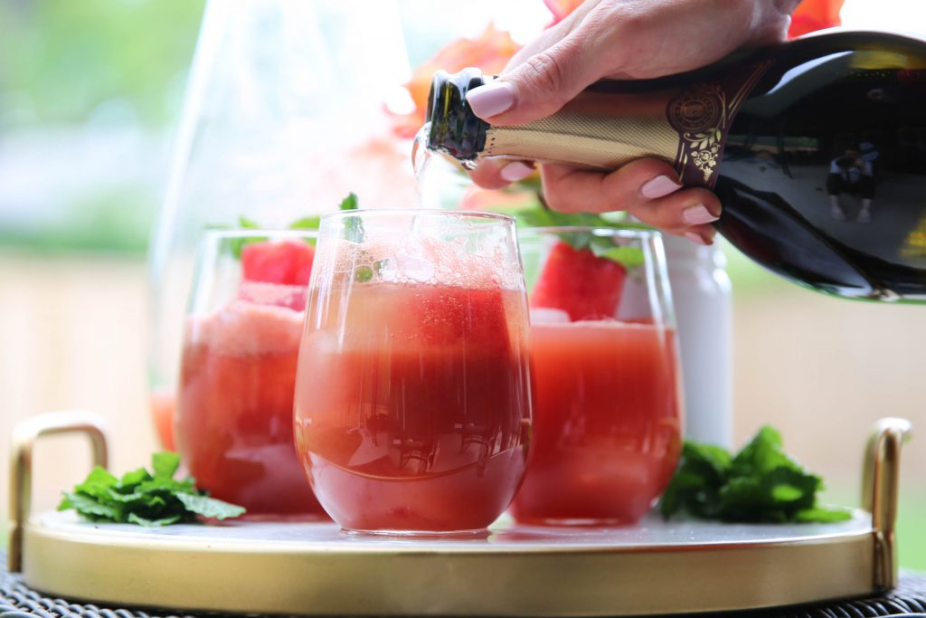 PaleOMG Watermelon Prosecco Punch