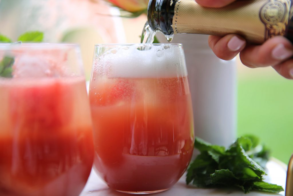 PaleOMG Watermelon Mint Prosecco Punch