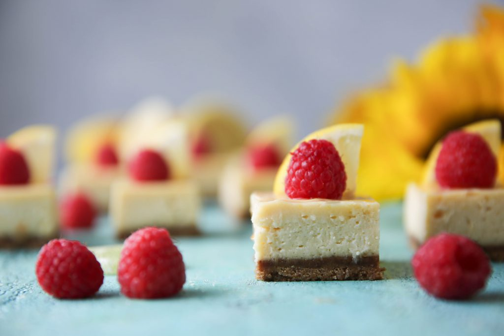 PaleOMG Lemon Raspberry Cheesecake Bars