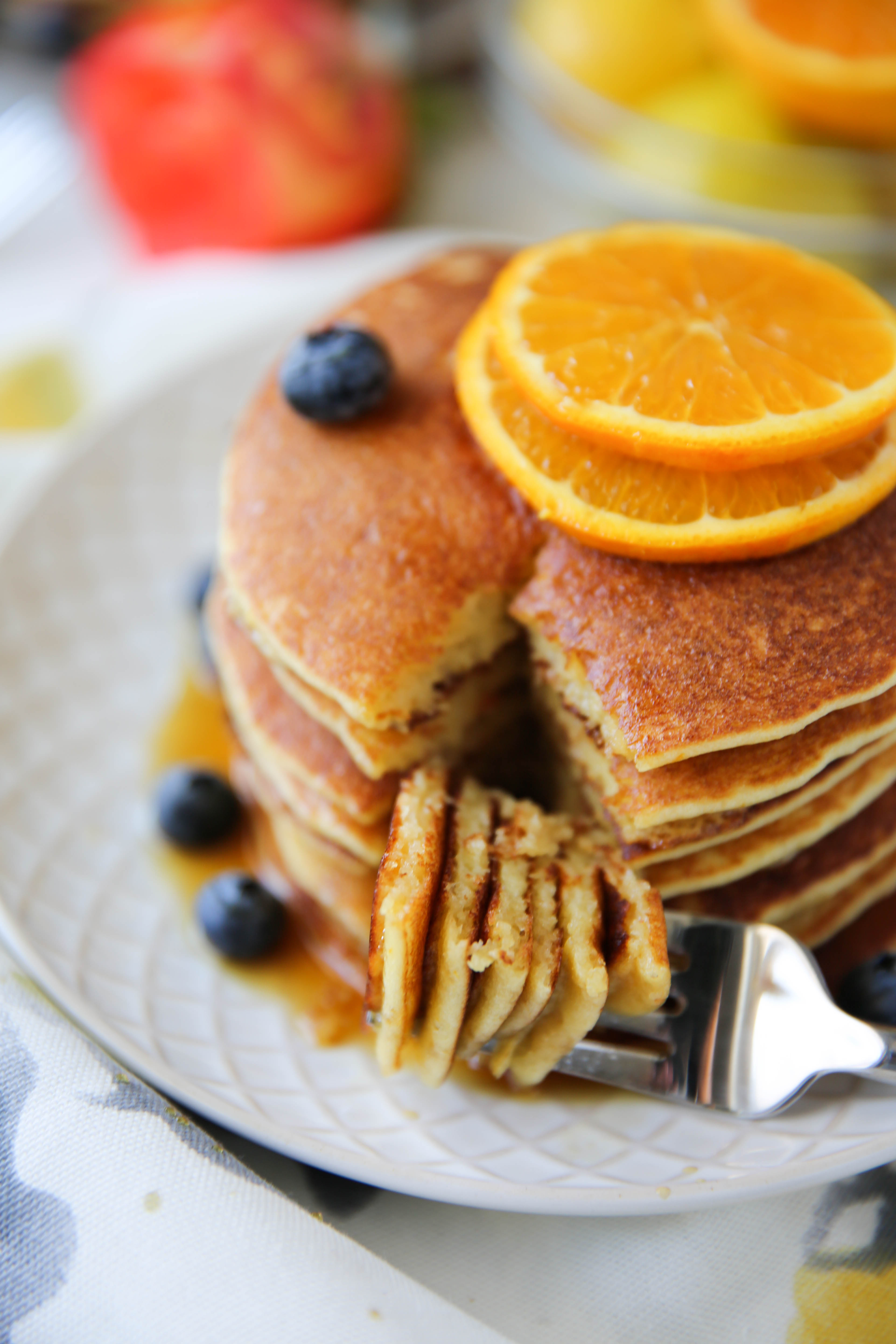 PaleOMG Blueberry Orange Pancakes (+cooking video!)
